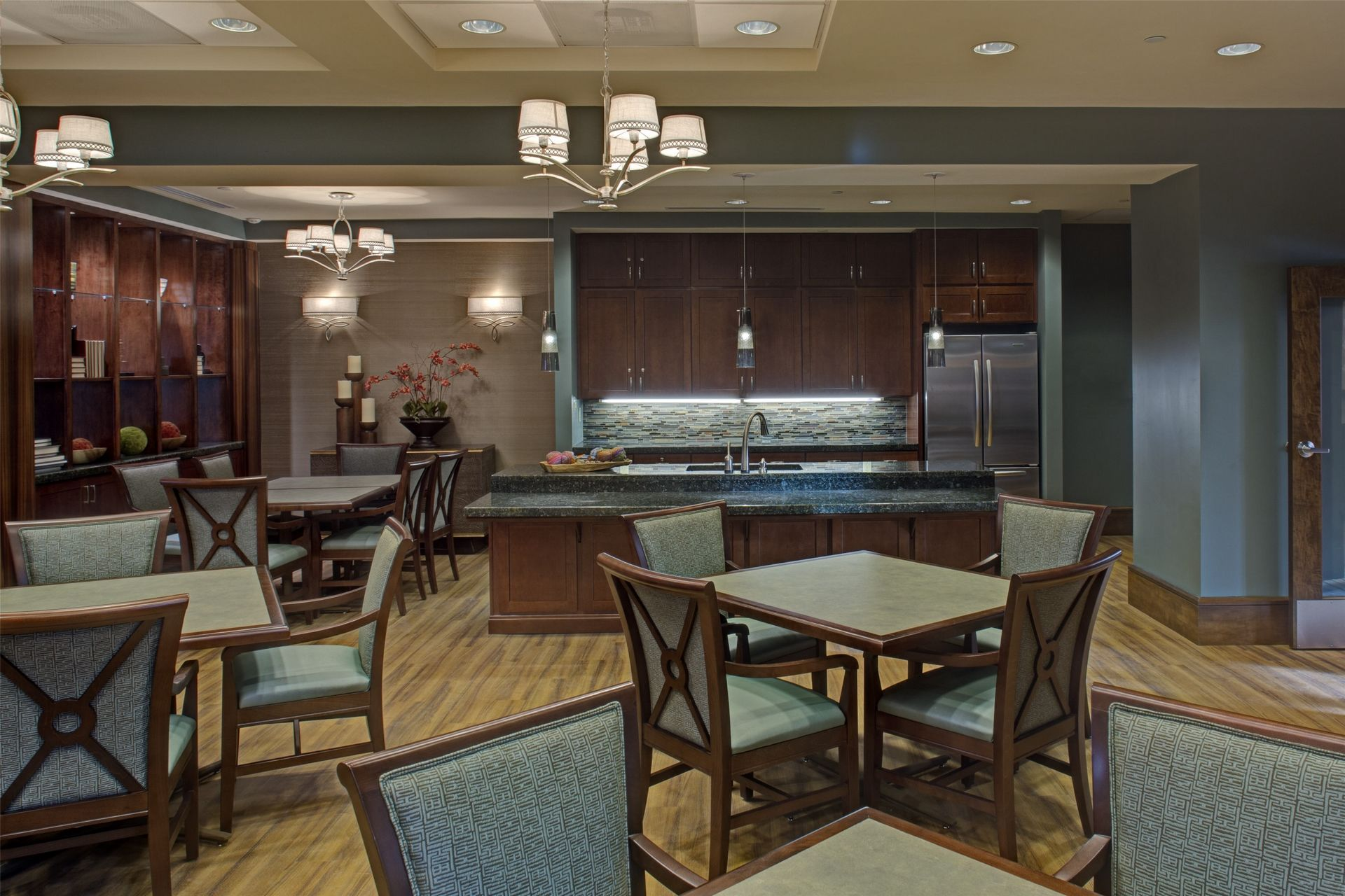 Cohen Rosen House, Rockville | Charles E. Smith | Assisted Living, Memory Care Design THW Lobby