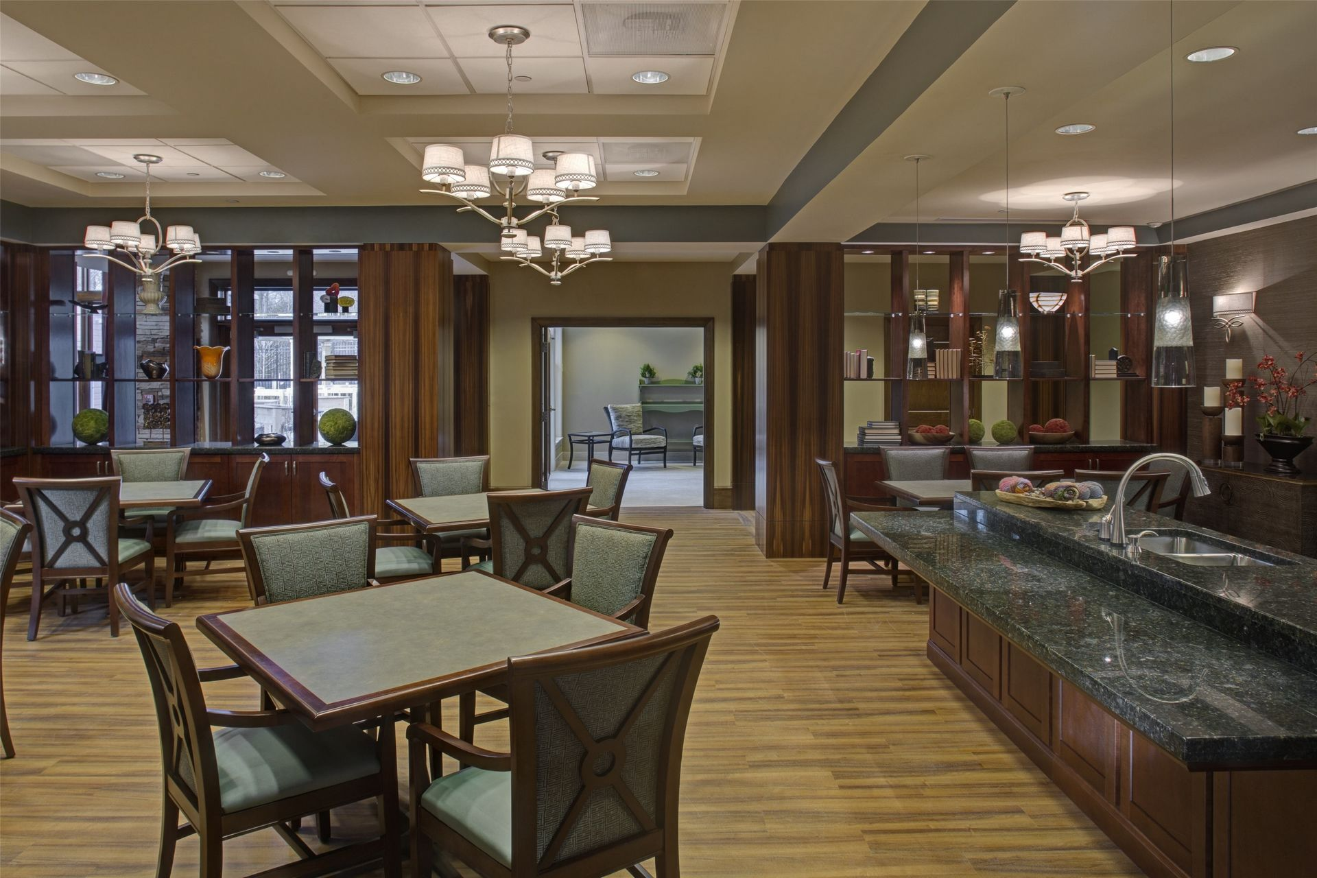 Cohen Rosen House, Rockville | Charles E. Smith | Assisted Living, Memory Care Design THW Dining