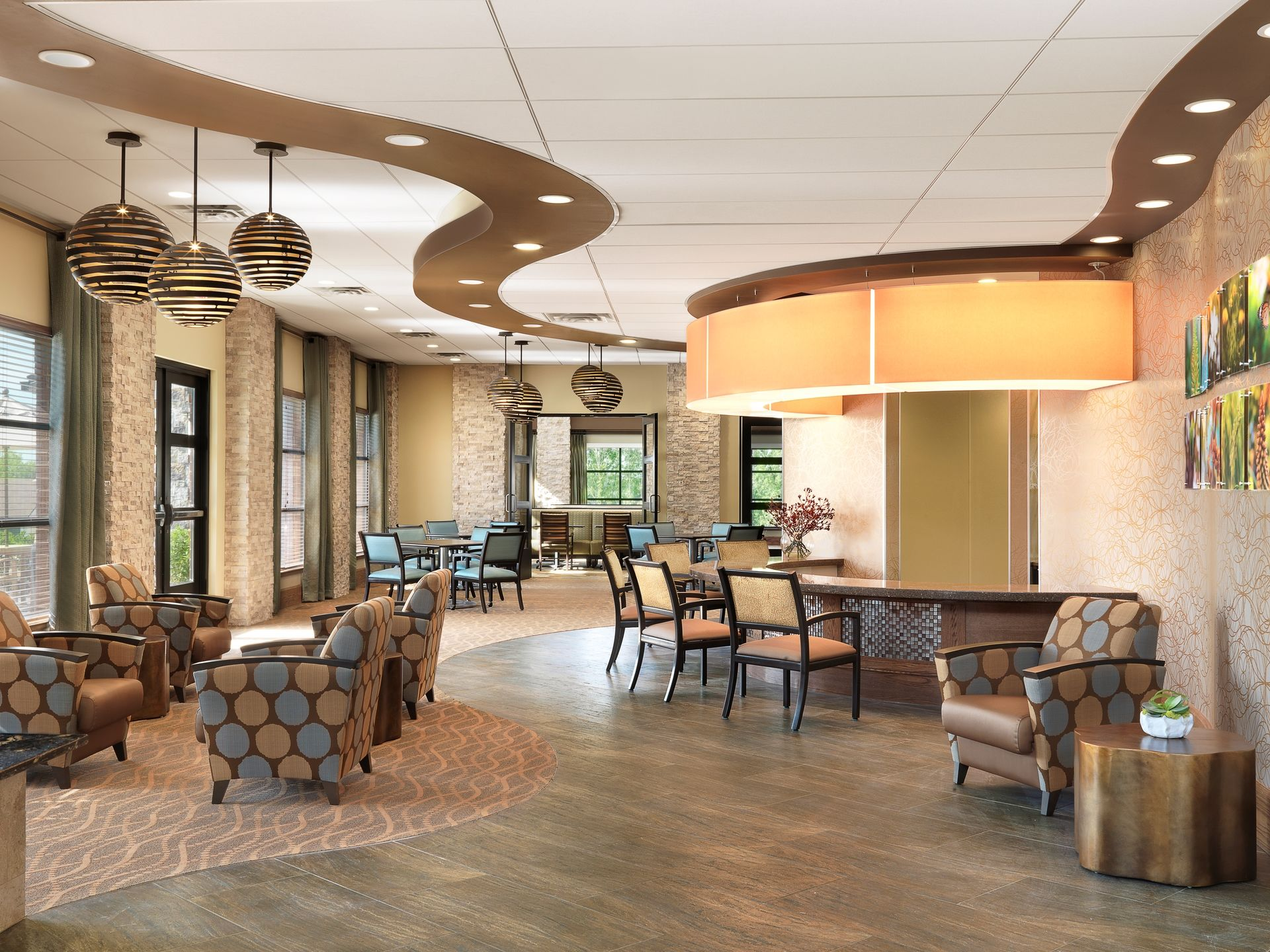 Friendship Village CCRC THW Senior Living Design Cafe