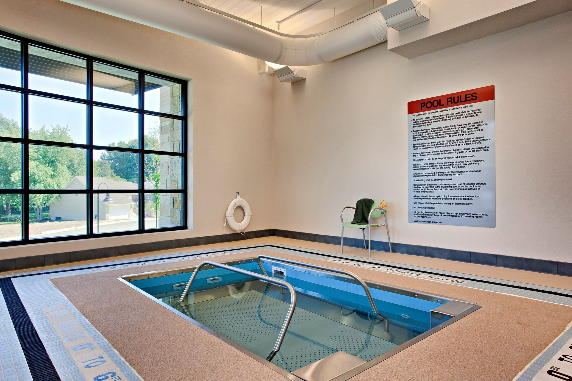 Lakeview Village Retirement Skilled Nursing and Rehab Senior Living Design THW Therapy Pool