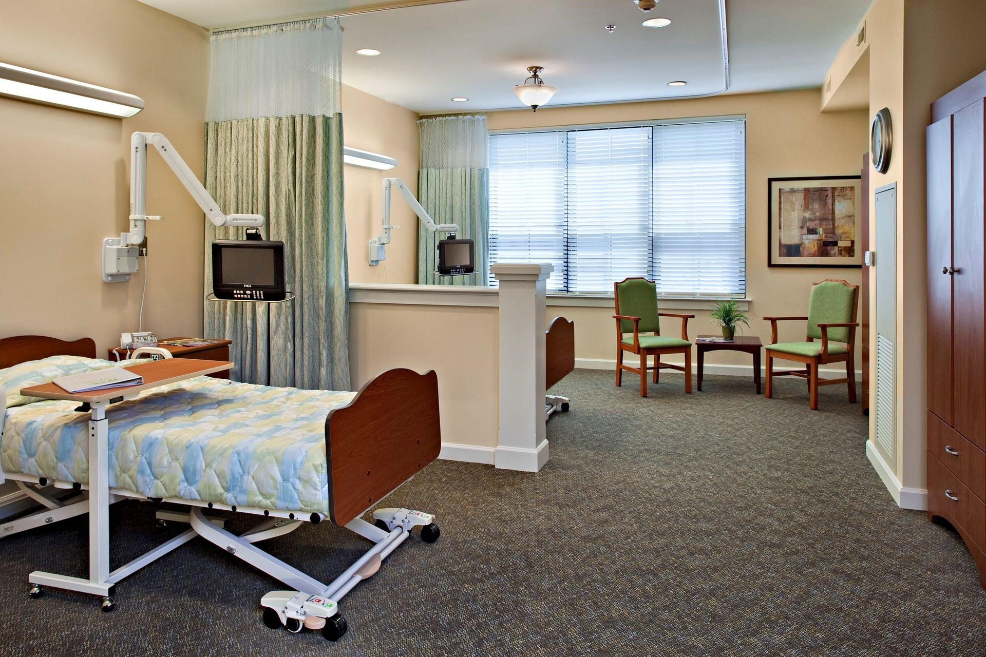 Lakeview Village Retirement Skilled Nursing and Rehab Senior Living Design THW Semi private room healthcare