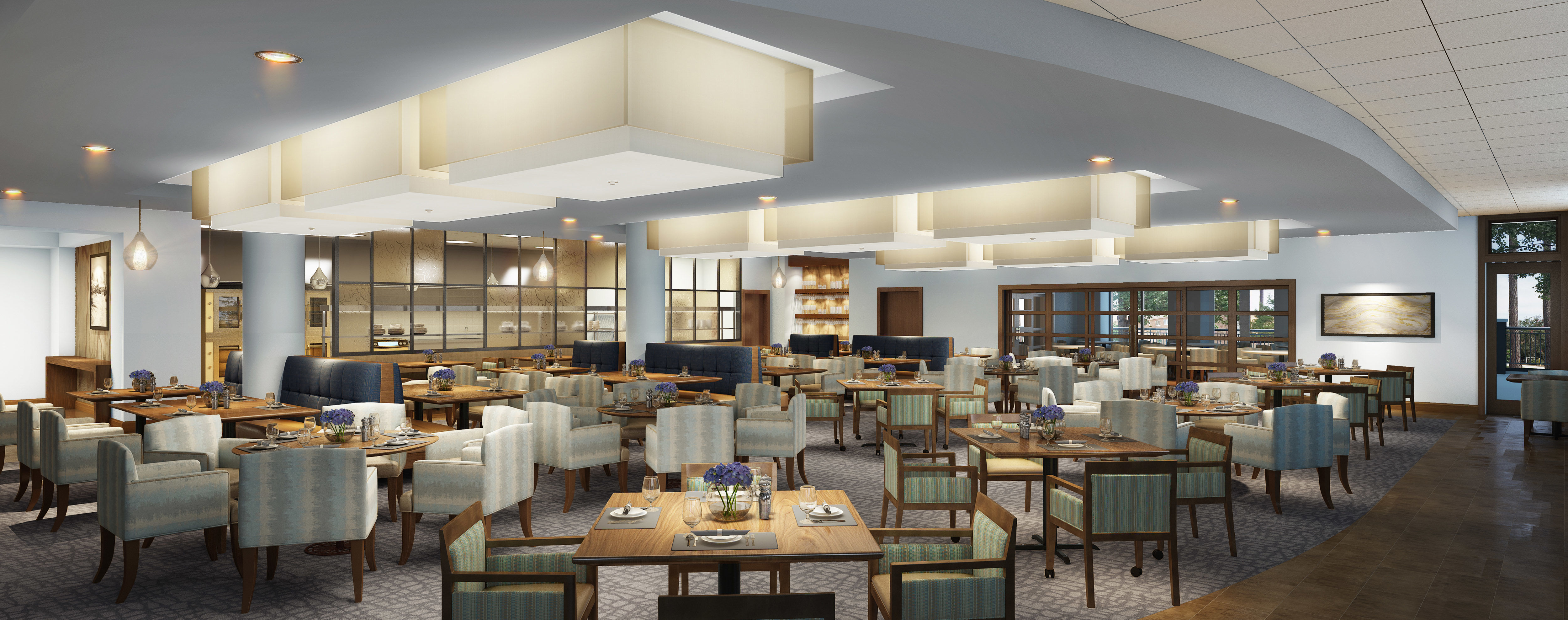 Updated Dining Room Senior Living Lakewood THW Design