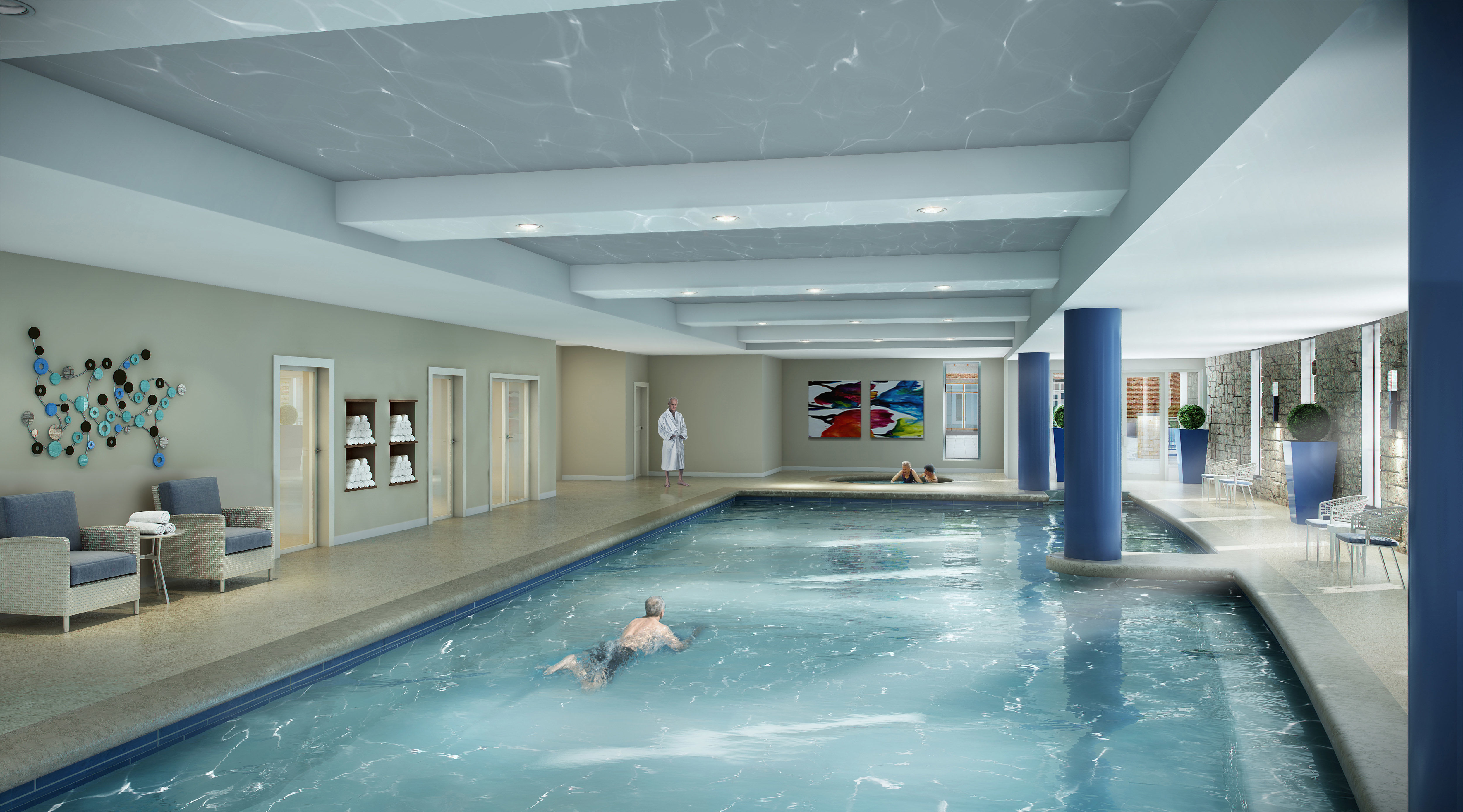 Pool Natatorium Renovation New Repositioning THW Design Senior Living