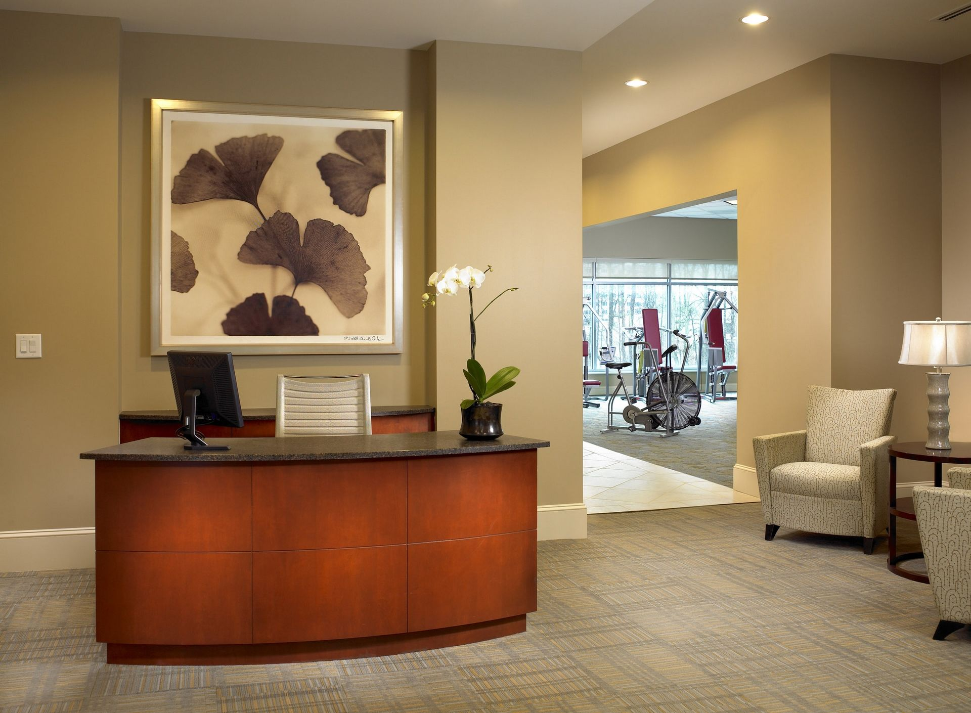 Lenbrook THW Senior Living Design CCRC Fitness Wellness Interior Design