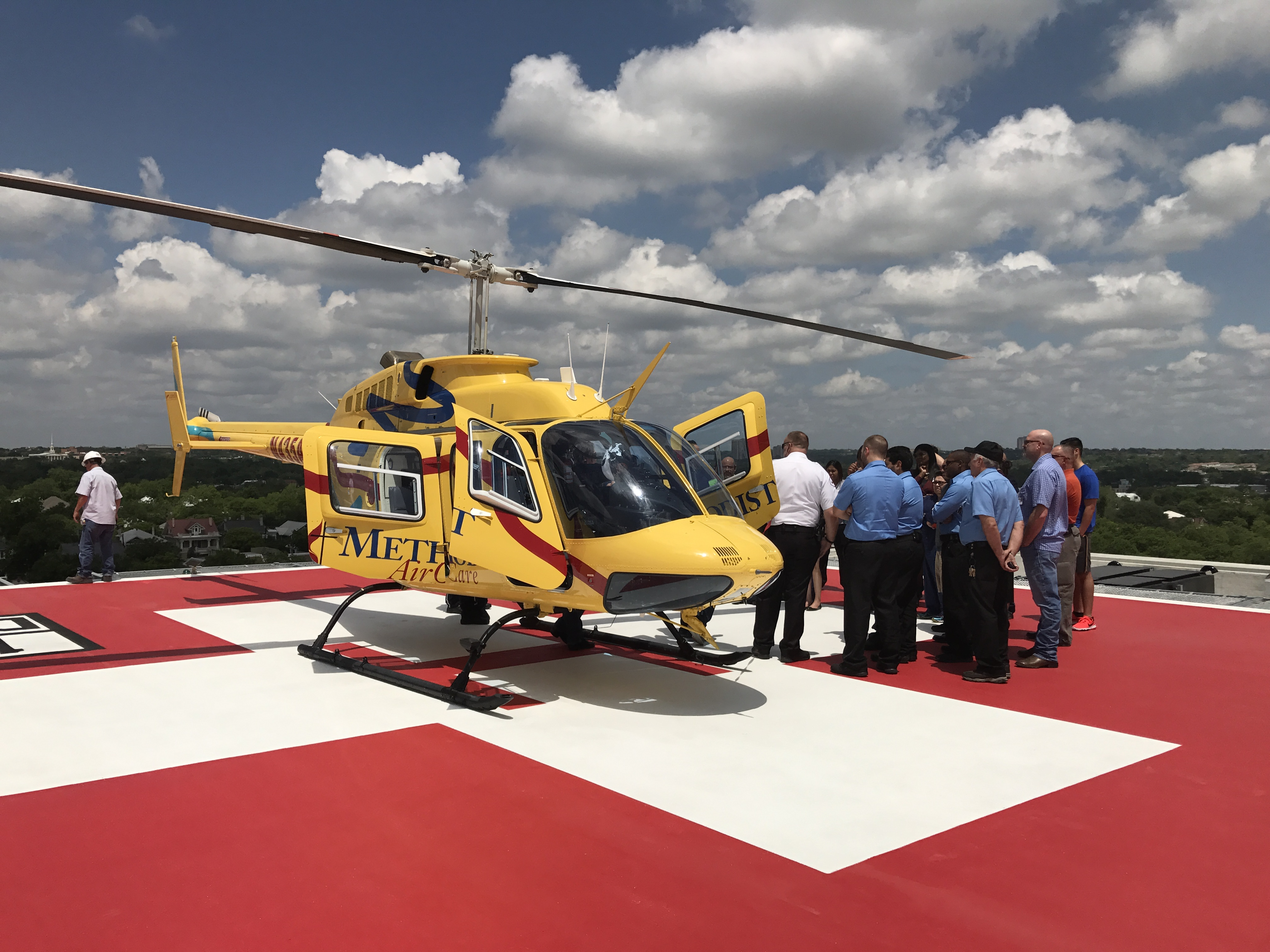 Emergency Services Helipad Metropolitan Methodist Hospital