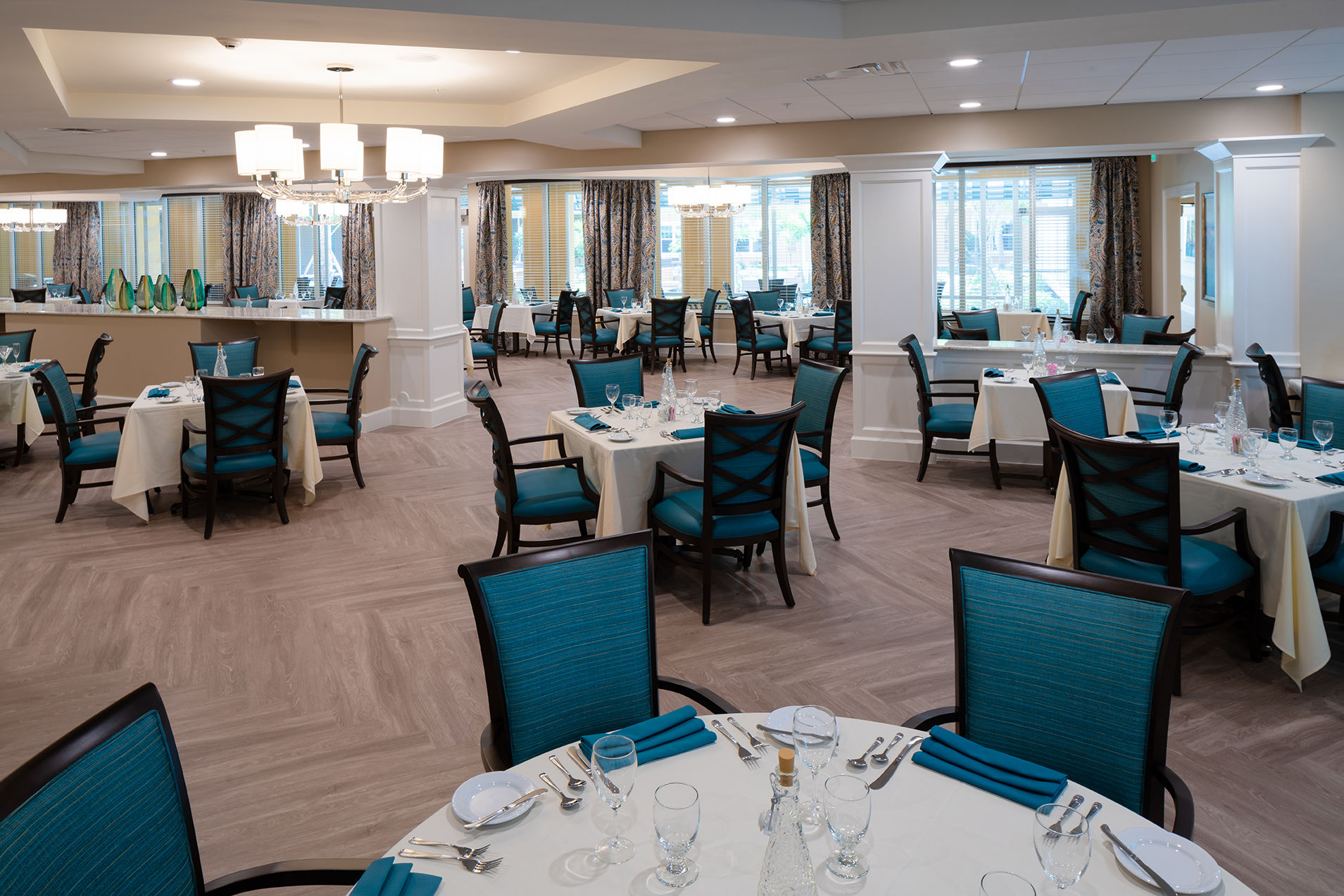 Symphony Delray Senior Living Dining Senior Living Architects