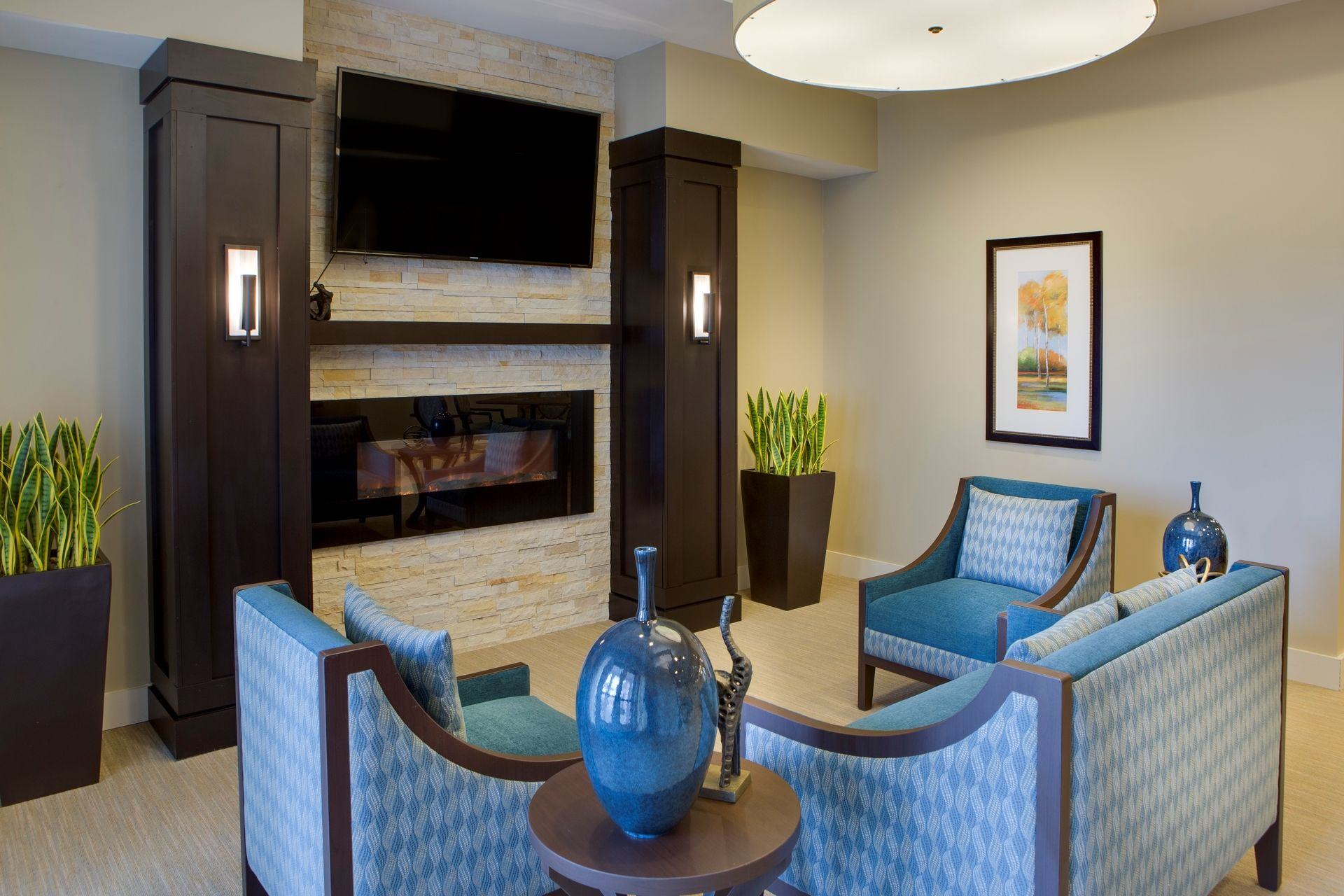 Greer Memory Care Design THW Sitting Area