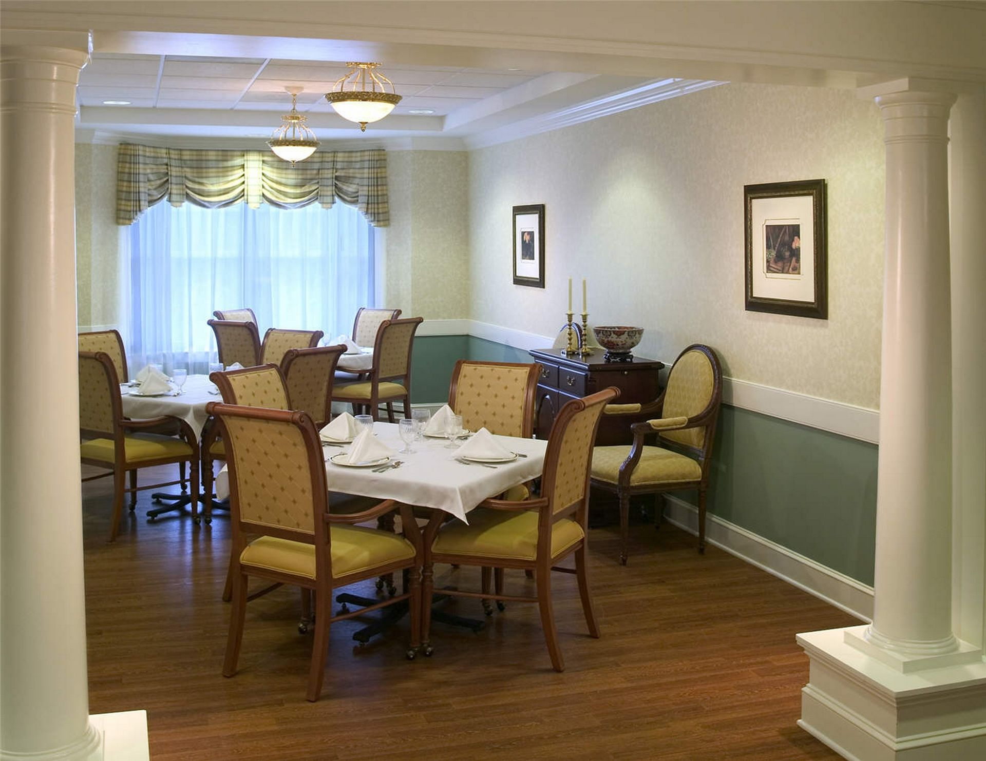 Westminster Canterbury Richmond CCRC Private dining THW Design Senior Living