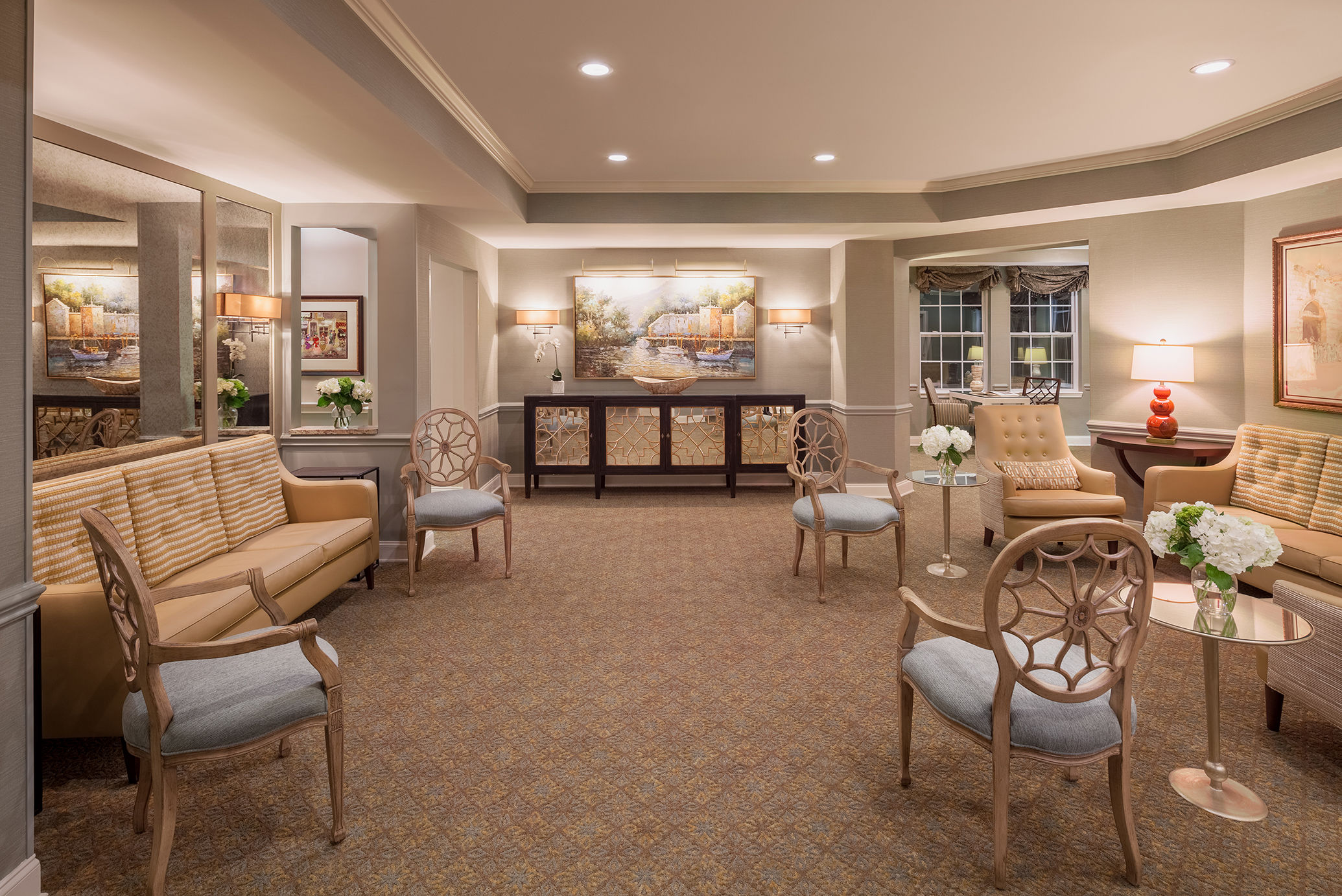 The Cohen Home Senior Living Architects Georgia Lobby Memory Care
