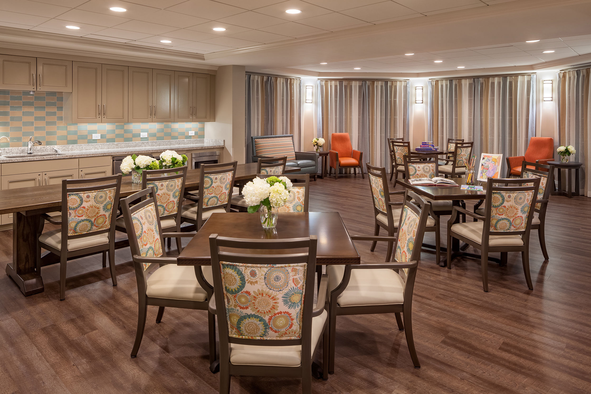 The Cohen Home Senior Living Architecture Activity Room Memory Care