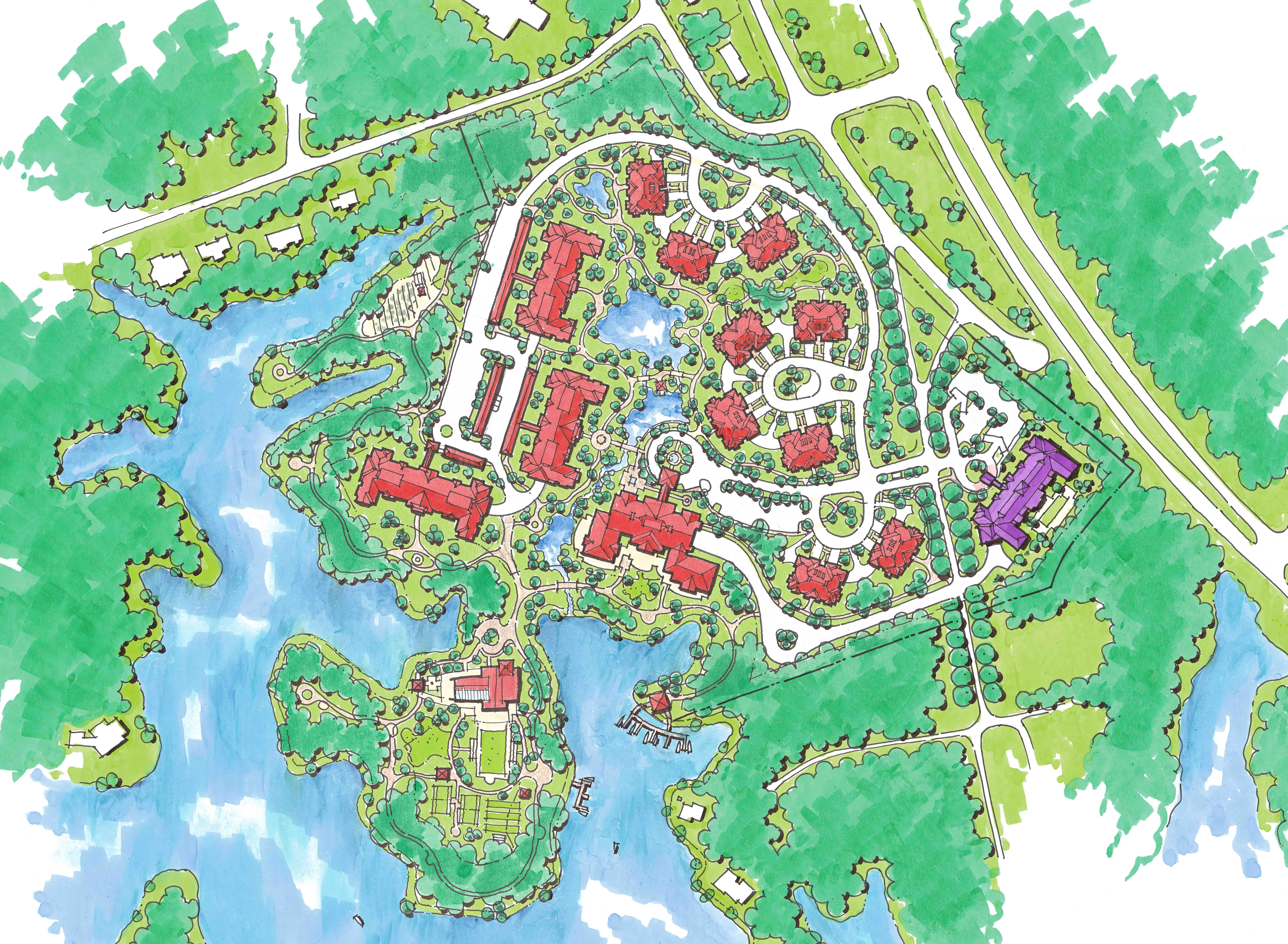 Senior Living, Landscape Architect, THW, THW Atlanta, Top Land Planning, Best Landscape Architects, Landscape Design, Mixed Use Development, Master Planning