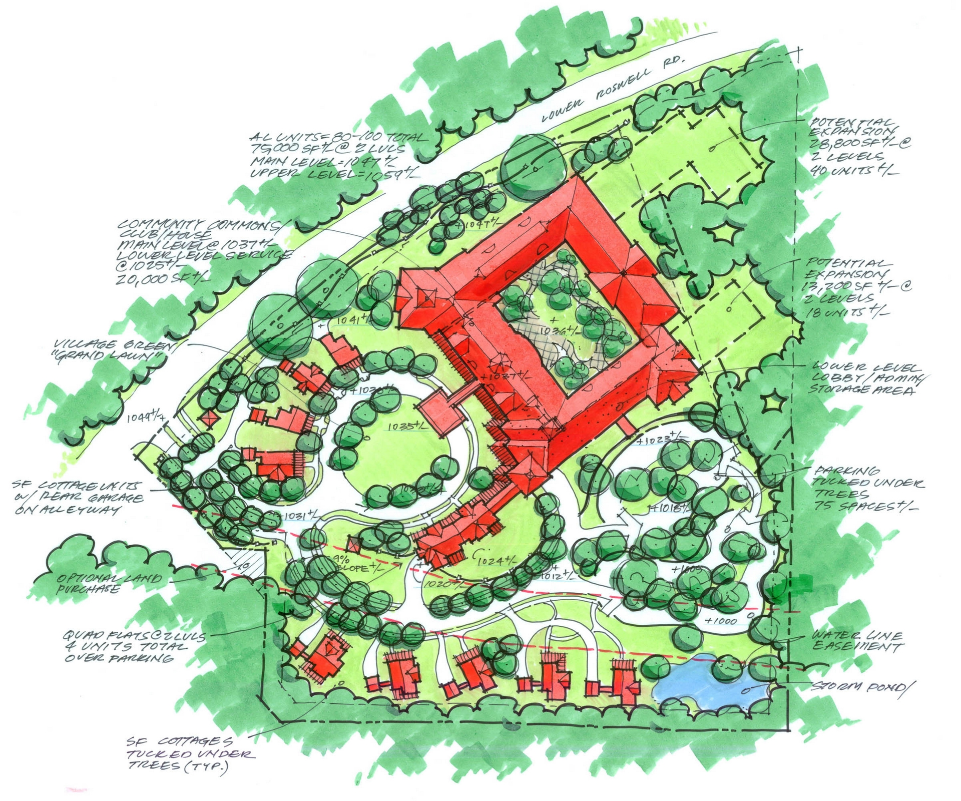 Senior Living, Landscape Architect, THW, THW Atlanta, Top Land Planning, Best Landscape Architects, Quick Site Analysis, Quick site concept planning, Master Planning