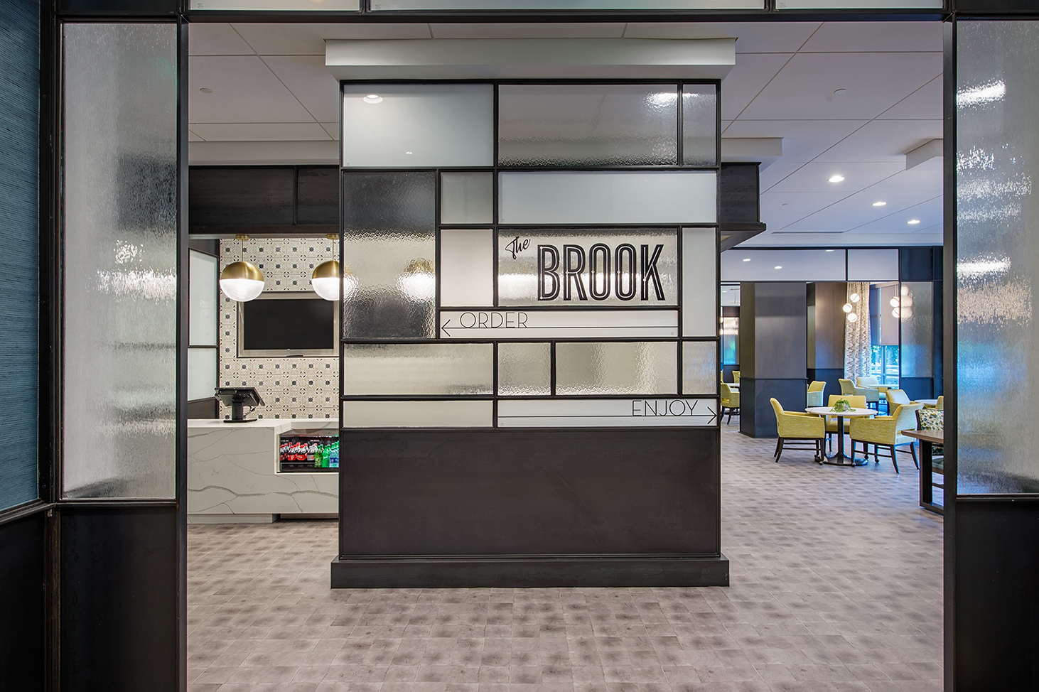 he Brook at Lenbrook Senior Living Bistro Dining Bistro Renovation Atlanta THW Design