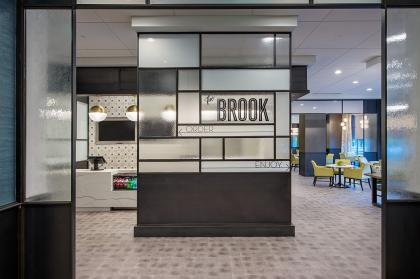 The Brook at Lenbrook Senior Living Bistro Dining Bistro Renovation Atlanta THW Design