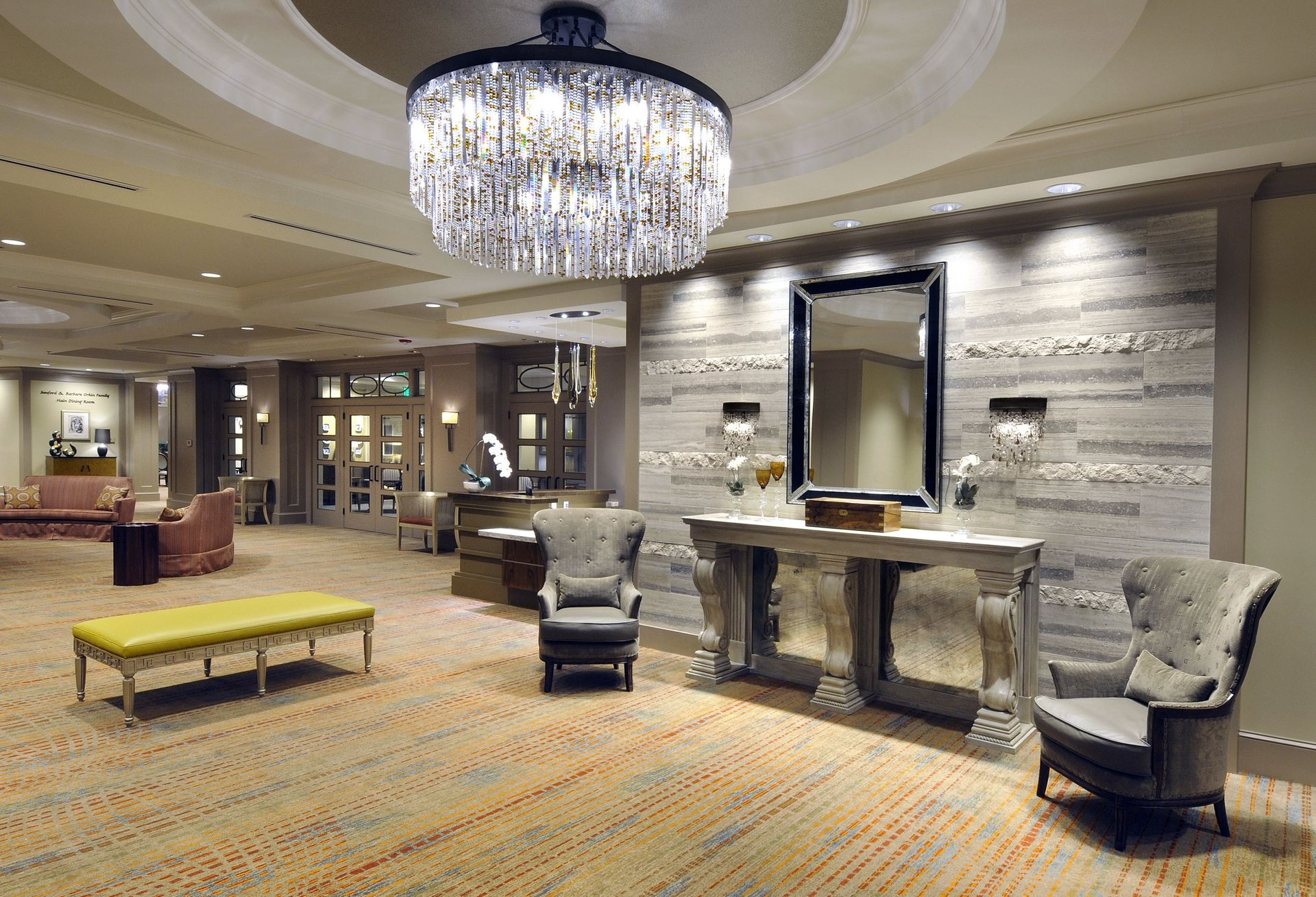 Berman Commons | Assisted Living And Memory Care Design THW Lobby View