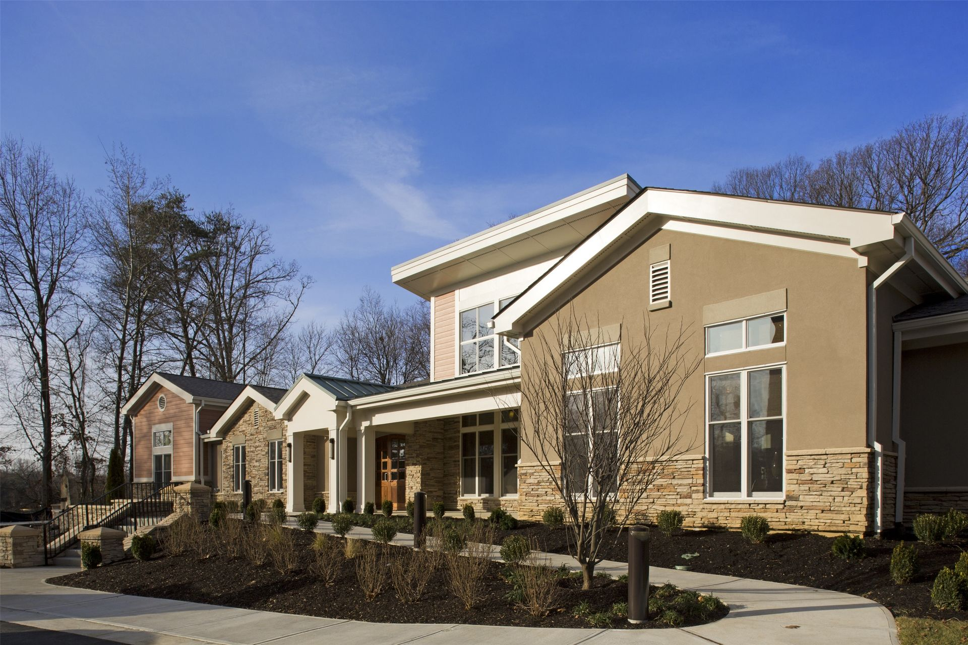 Cohen Rosen House, Rockville | Charles E. Smith | Assisted Living, Memory Care Design THW Water Feature Exterior