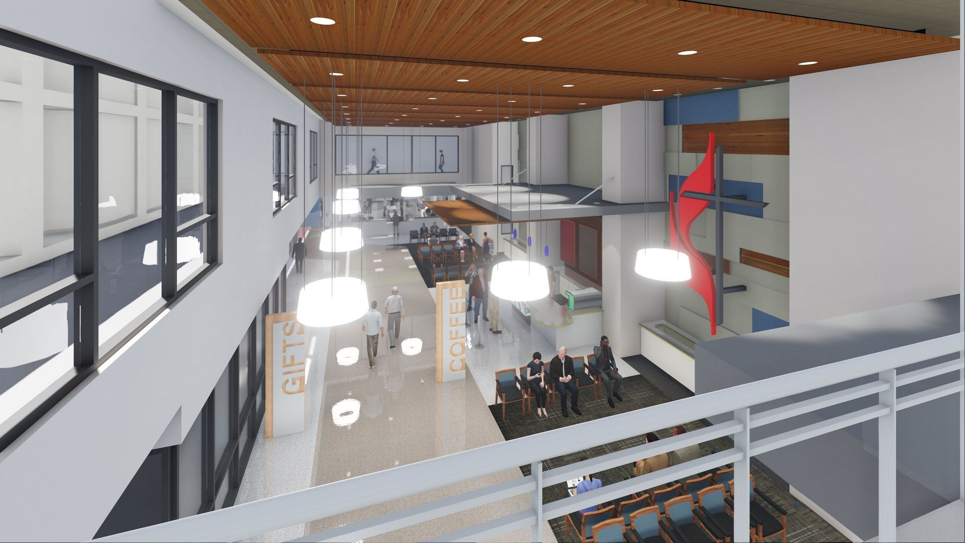 Metropolitan Methodist Hospital Expansion, San Antonio, TX THW Healthcare Design  Interior