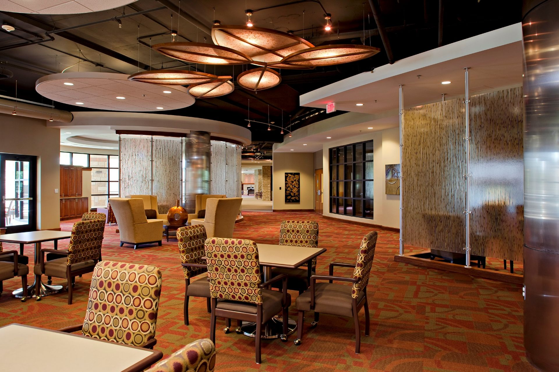 Lakeview Village Retirement Skilled Nursing and Rehab Senior Living Design THW West Cooridor