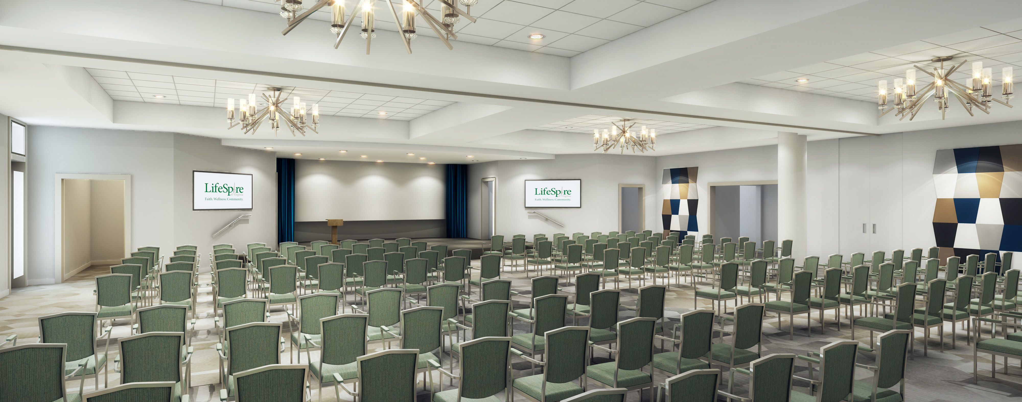 Multipurpose Room Repositioning THW Design Senior Living architects