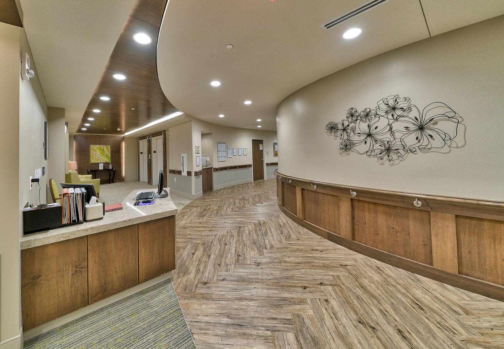 Maplewood Park Place SunRise Senior Living Lobby Senior Living Architects