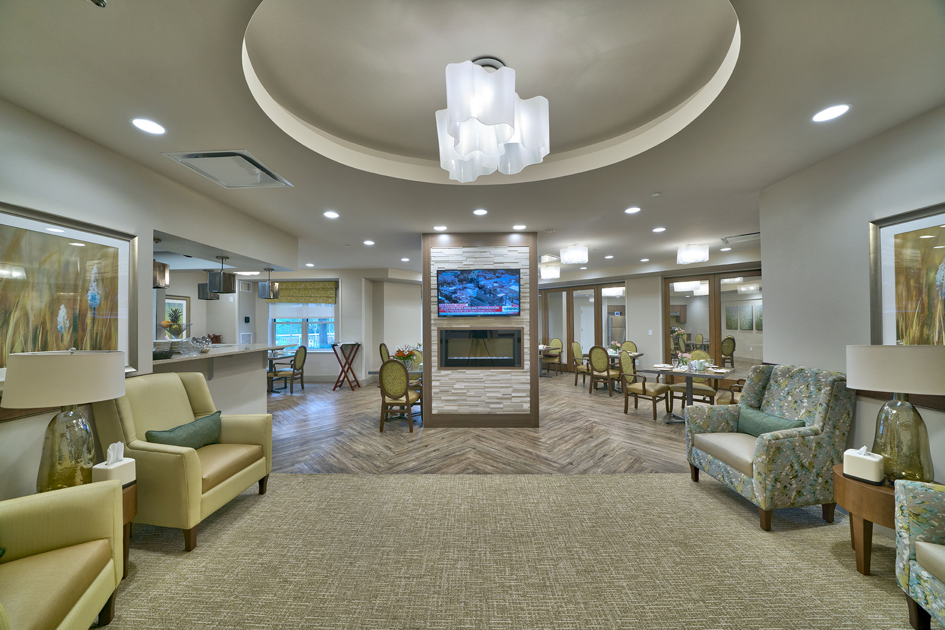Maplewood Park Place SunRise Senior Living Lobby2 Senior Living Architects
