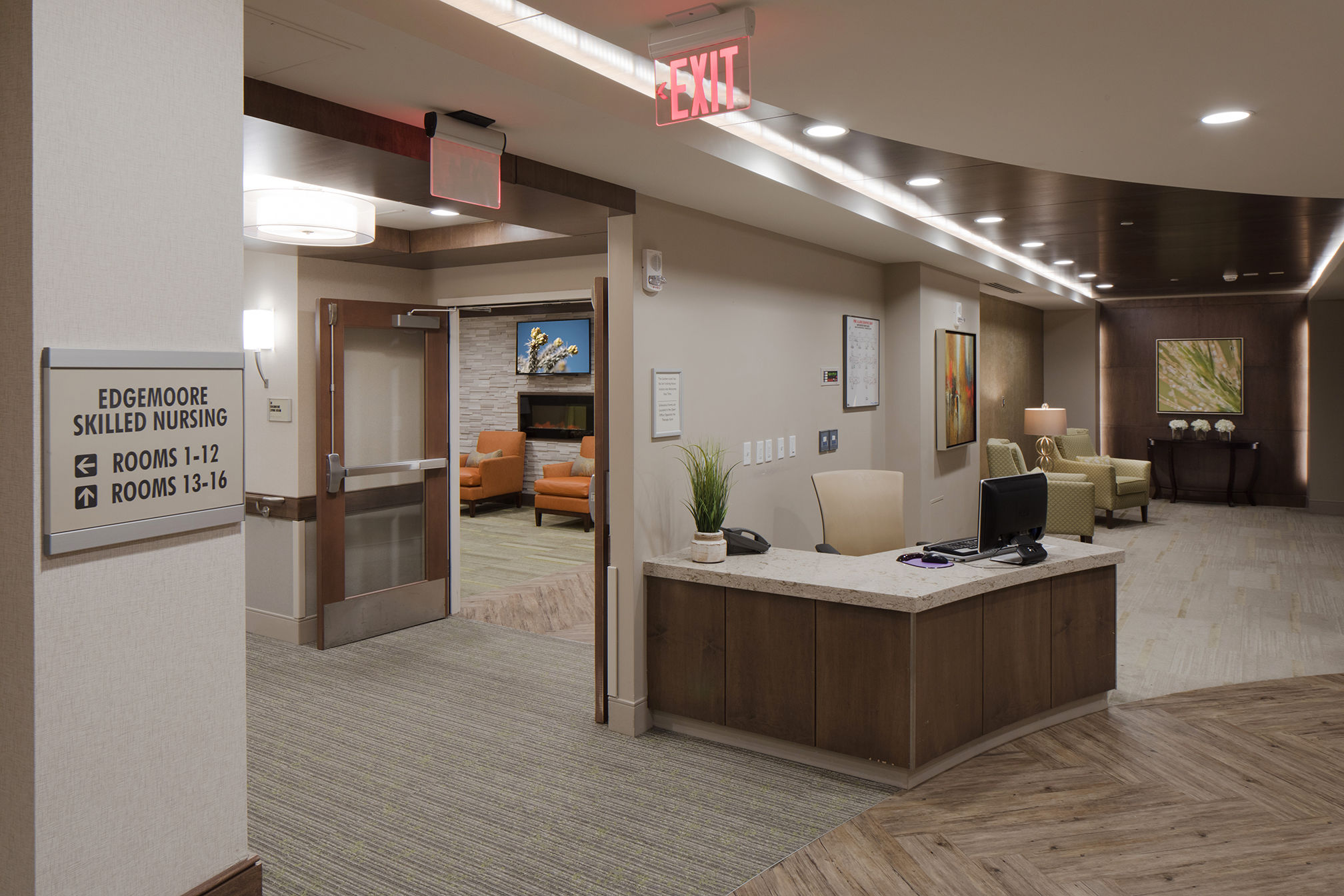 Maplewood Park Place SunRise Senior Living Lobby View Senior Living Architects
