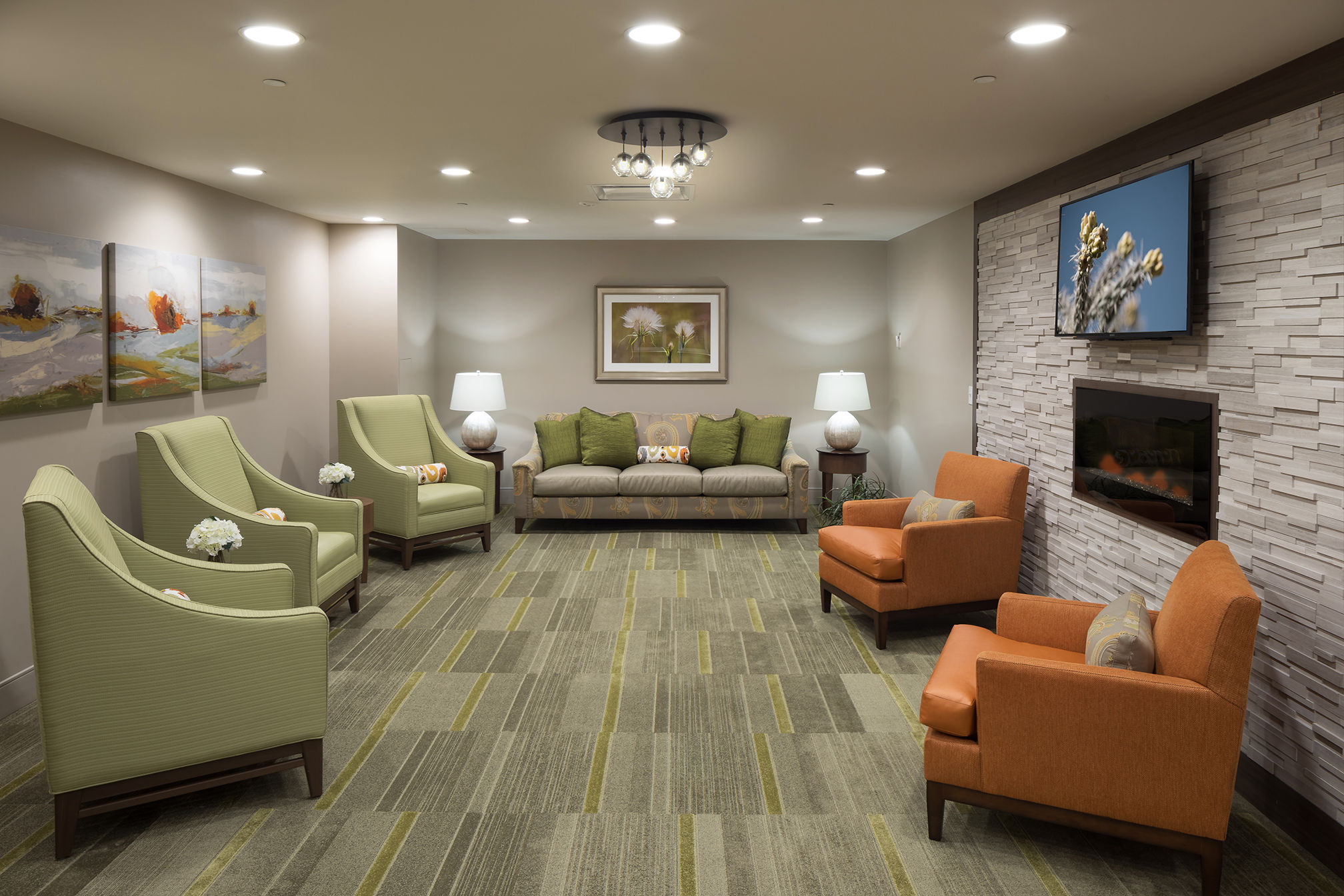 Maplewood Park Place SunRise Senior Living Sitting Area Senior Living Architects