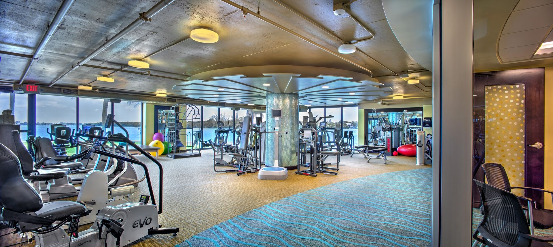 Plymouth harbor wellness center sarasota fl thw design Living room gym
