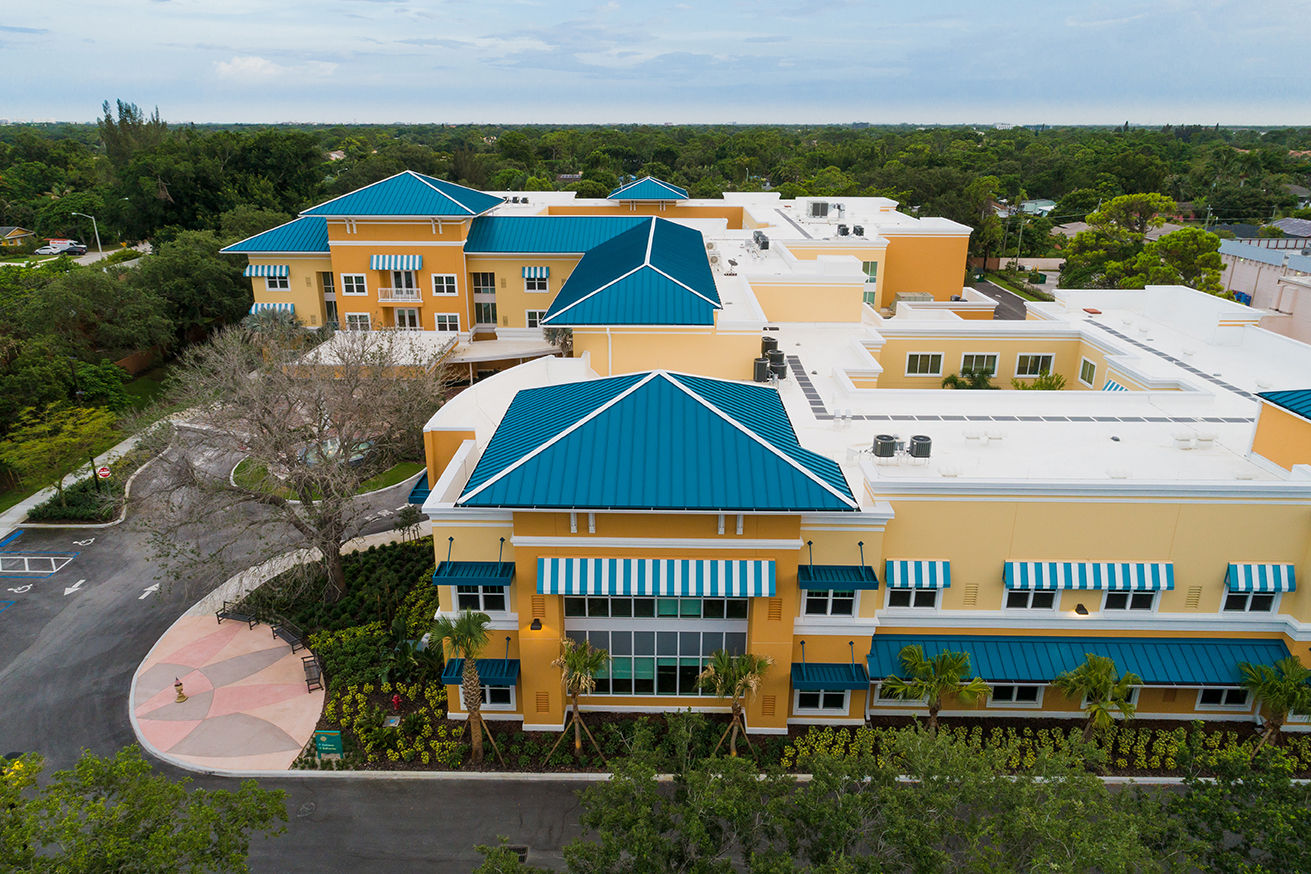 Symphony Delray Senior Living Aerial View Senior Living Architects