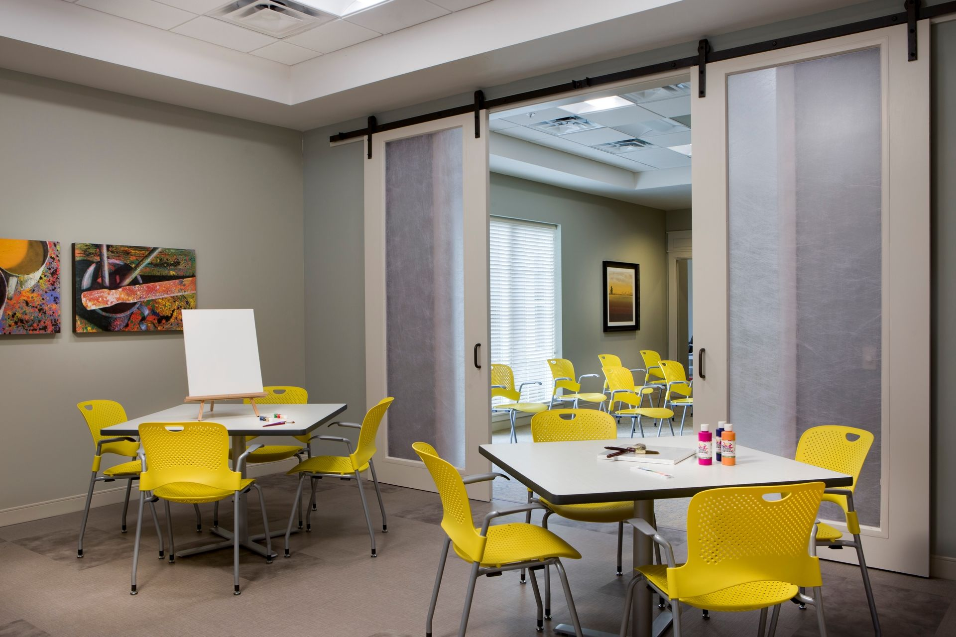 Greer Memory Care Design THW Activity Room