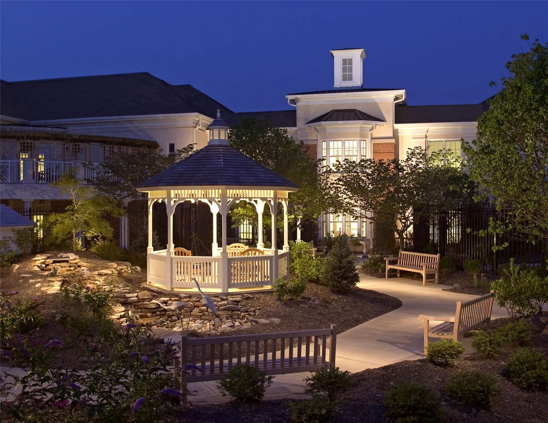 Westminster Canterbury Richmond CCRC Gazebo THW Design Senior Living