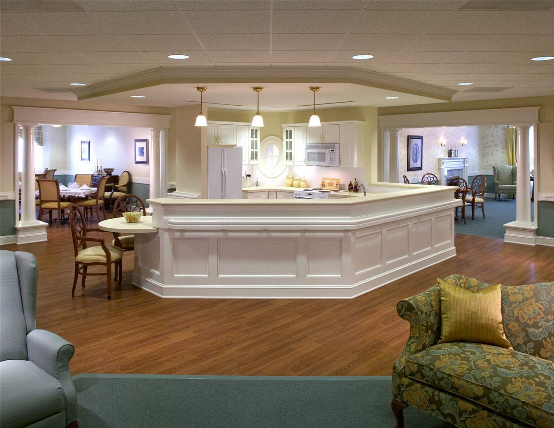 Westminster Canterbury Richmond CCRC nursing station THW Design Senior Living