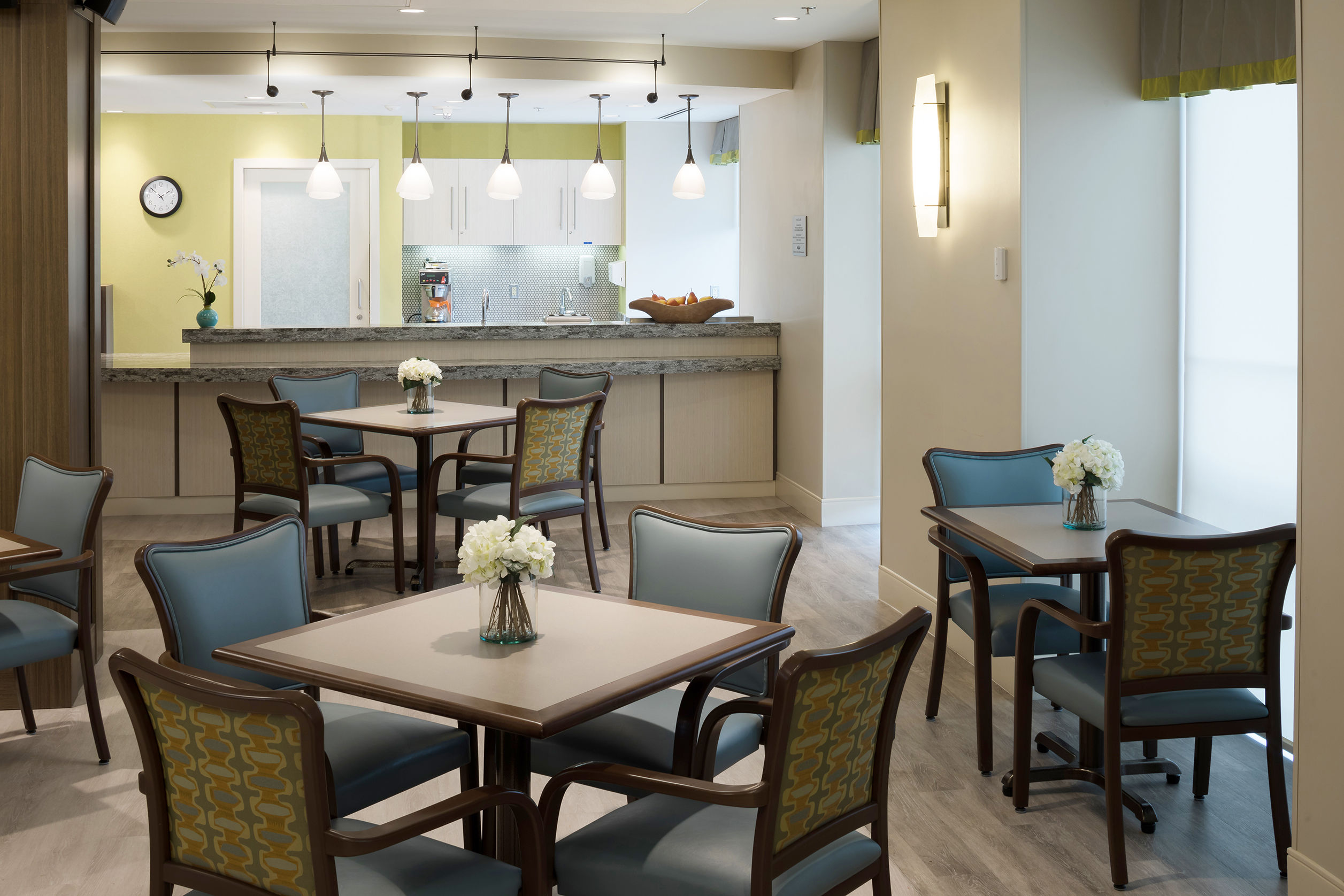 Revitz House Cafe Charles e Smith Jewish Senior Living Designer THW