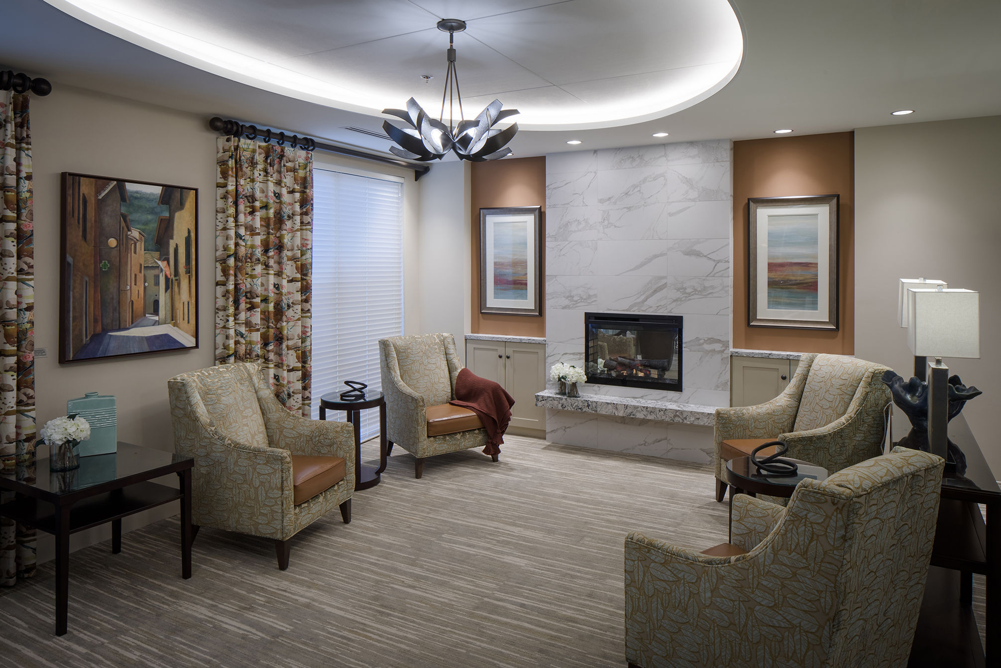 Revitz House Social Area Charles e Smith Jewish Senior Living Designer THW