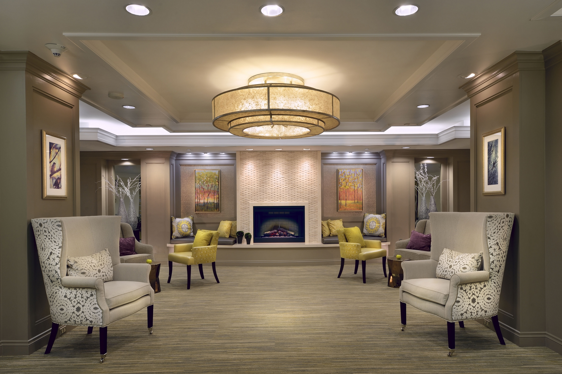 Our Goal Was To Repurpose The Lobby A Desirable Living Room Experience Ready For Small Family Gatherings Or Large Social Events