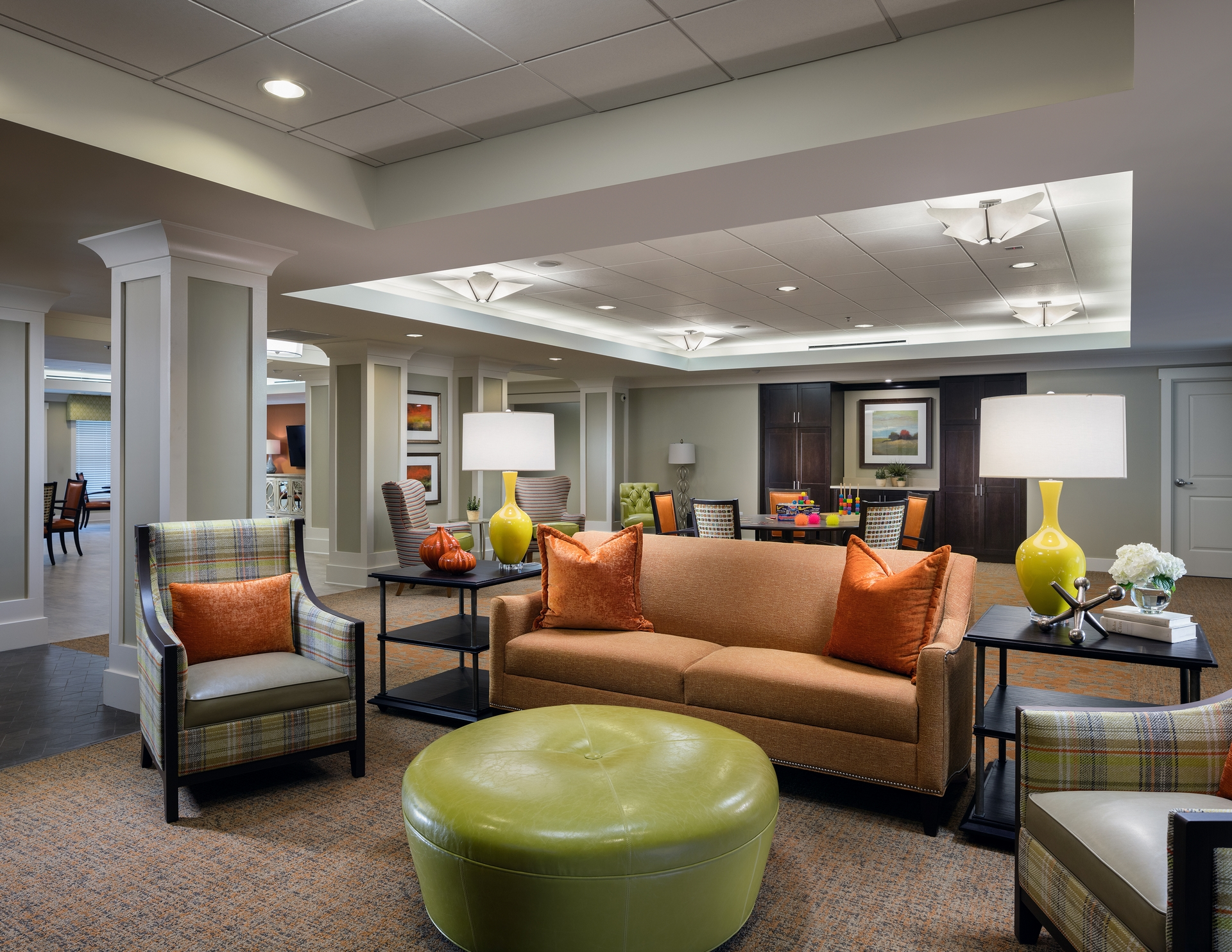 The Palette Is Sophisticated And The Memory Care Spaces Utilize A More  Cheerful Approach